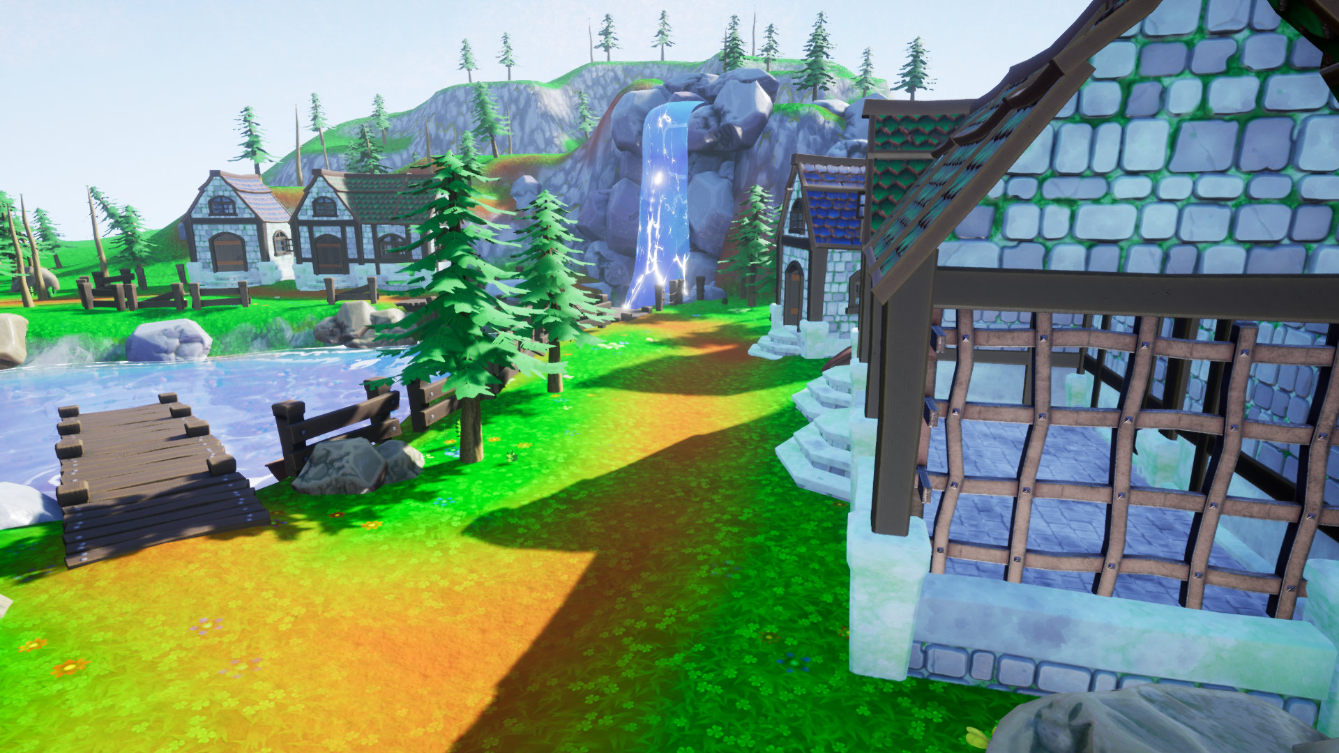 Stylized Modular Medieval Village Pack